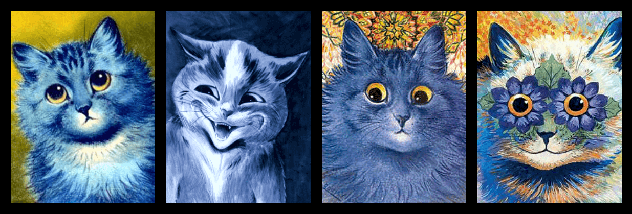 Louise Wain - Blue cat progression