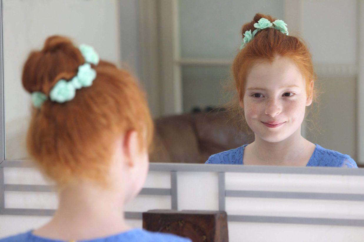 niña espejo autoestima