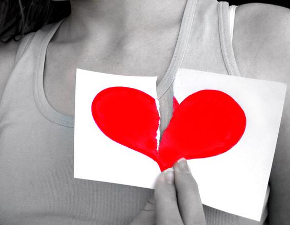 ruptura corazón roto