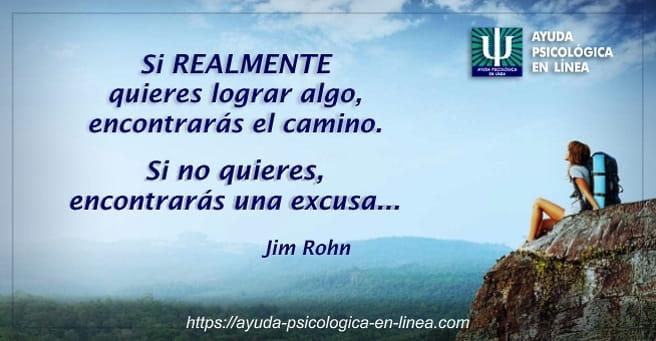 Psicoterapia Online - Frase Jim Rohn
