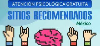atención psicológica gratuita - Poster sitios recomendados México