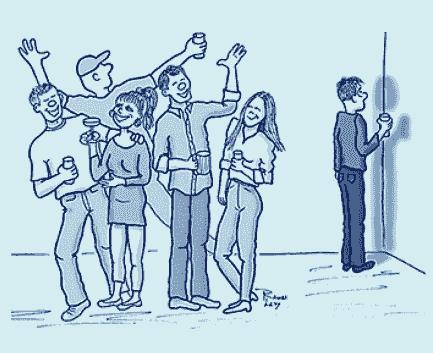 caricatura fobia social