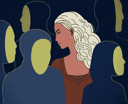 ilustración fobia social
