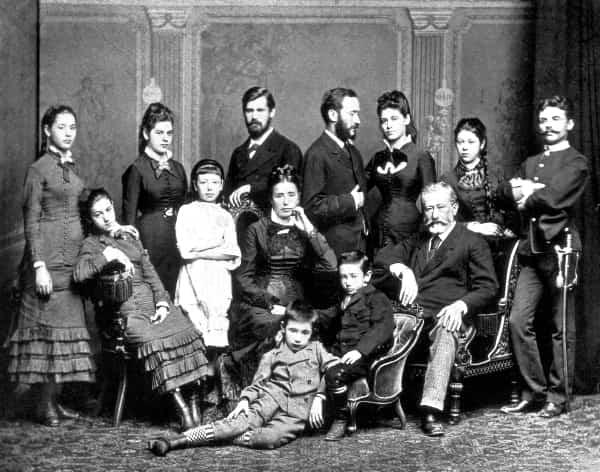 Fotografía familia de Freud