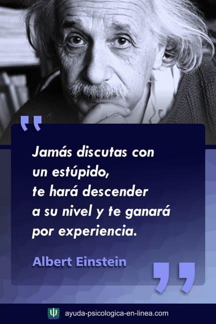 Frase Einstein Discutir