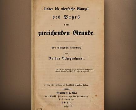 Cuádruple raíz del principio de razón suficiente 1847