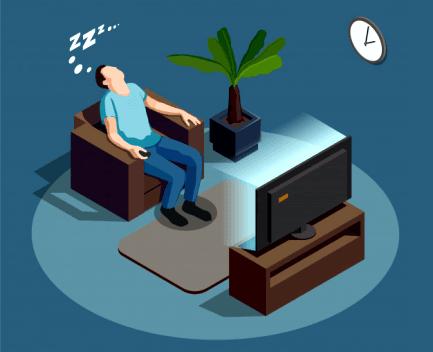 dormir profundamente viendo TV