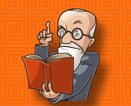 Sigmund Freud Caricatura