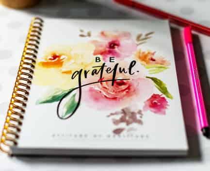 diario de gratitud bonito